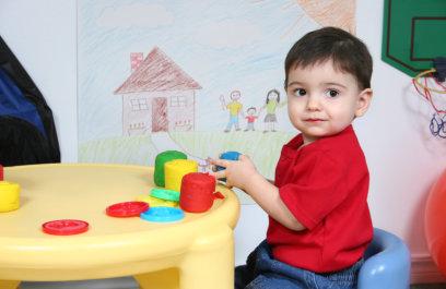 male kid sitting